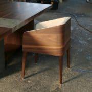 cubus minimál szék, design szék, étkezőszék, ebédlőszék, fa szék, magas karfás szék 8