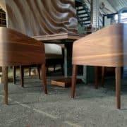 cubus minimál szék, design szék, étkezőszék, ebédlőszék, fa szék, magas karfás szék