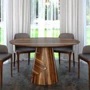 kör-kerek nyitható étkező design asztal