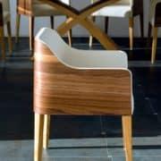 cubus íves karfás étkezőszék tárgyalószék ebédlőszék minimál design szék (2)
