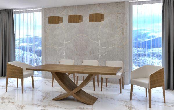 Kehely hazai dió egyedi bővíthető design étkezőasztal