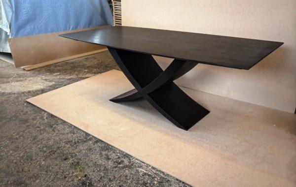 Reverz egyedi fordítható lábú füstölttölgy asztal