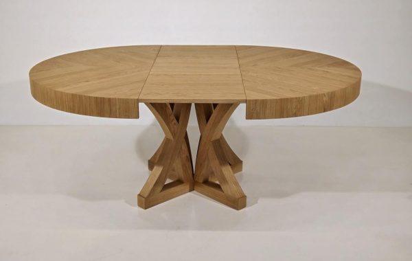 kerek zeg asztal egyedi nyitható körasztal bővíthető étkezőasztalok (1)