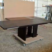 Bővithető, összecsukható river étkezőasztal, minimál tárgyaló asztal