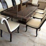 charm egyedi étkezőszék art deco asztal bárszék karosszék